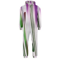 Colored Pattern Hooded Jumpsuit (Men)  by Nexatart