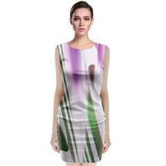 Colored Pattern Classic Sleeveless Midi Dress