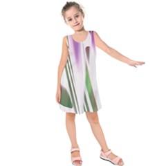 Colored Pattern Kids  Sleeveless Dress by Nexatart
