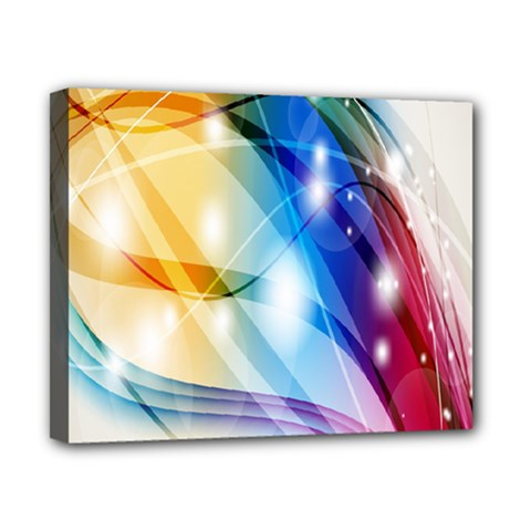 Colour Abstract Canvas 10  X 8  by Nexatart
