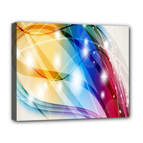 Colour Abstract Deluxe Canvas 20  X 16   by Nexatart