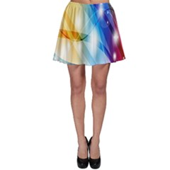 Colour Abstract Skater Skirt by Nexatart