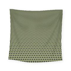 Hexagon Green Square Tapestry (small) by Jojostore