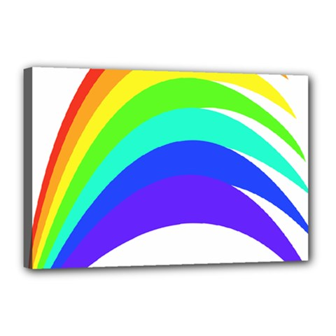 Rainbow Canvas 18  X 12  by Jojostore