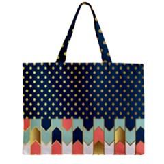 Preppy Personalized Yubo Lunch Box Gold Blue Pink Grey Zipper Mini Tote Bag by Jojostore