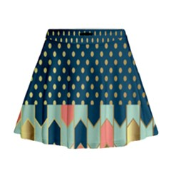 Preppy Personalized Yubo Lunch Box Gold Blue Pink Grey Mini Flare Skirt