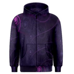 Purple Abstract Spiral Men s Zipper Hoodie by Jojostore