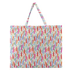 Splash Pattern Color Sign Zipper Large Tote Bag by Jojostore