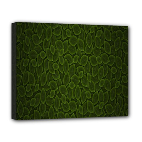 Leaves Dark Deluxe Canvas 20  X 16   by Jojostore