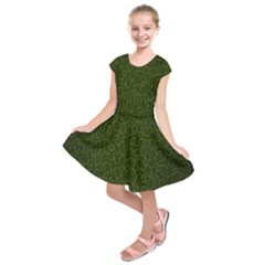 Leaves Dark Kids  Short Sleeve Dress by Jojostore