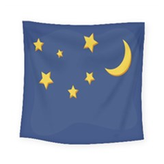 Starry Night Moon Square Tapestry (small) by Jojostore