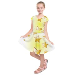 Star Gold Kids  Short Sleeve Dress by Jojostore