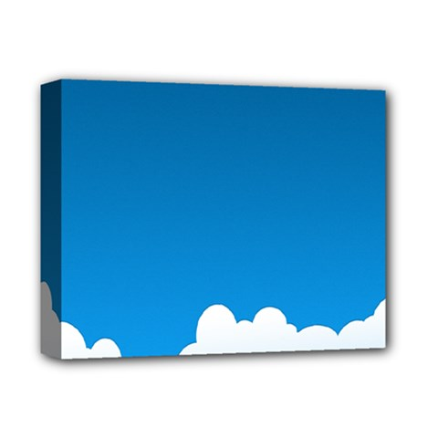 Clouds Illustration Blue Sky Deluxe Canvas 14  X 11  by Jojostore