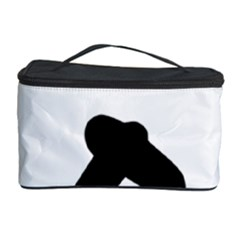 Cross Country Skiing Pictogram Cosmetic Storage Case by abbeyz71