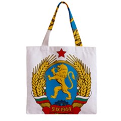 Coat Of Arms Of Bulgaria (1948 1968) Zipper Grocery Tote Bag by abbeyz71