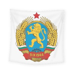 Coat Of Arms Of Bulgaria (1948 1968) Square Tapestry (small) by abbeyz71