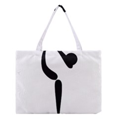 Figure Skating Pictogram Medium Tote Bag by abbeyz71