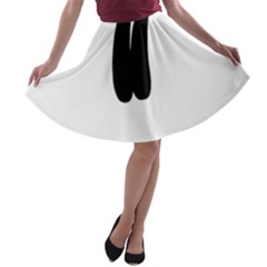 Freestyle Skiing Pictogram A Line Skater Skirt by abbeyz71