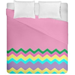 Easter Chevron Pattern Stripes Duvet Cover Double Side (california King Size)