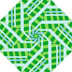 Fabric Cotton Geometric Diagonal Hook Handle Umbrellas (small)