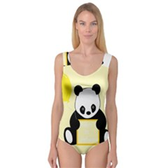 First Birthday Panda Card Princess Tank Leotard  by Nexatart