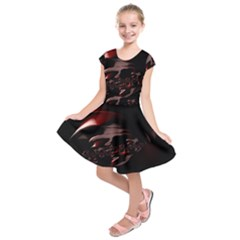 Fractal Mathematics Abstract Kids  Short Sleeve Dress by Nexatart