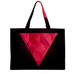 Geometric Triangle Pink Zipper Mini Tote Bag