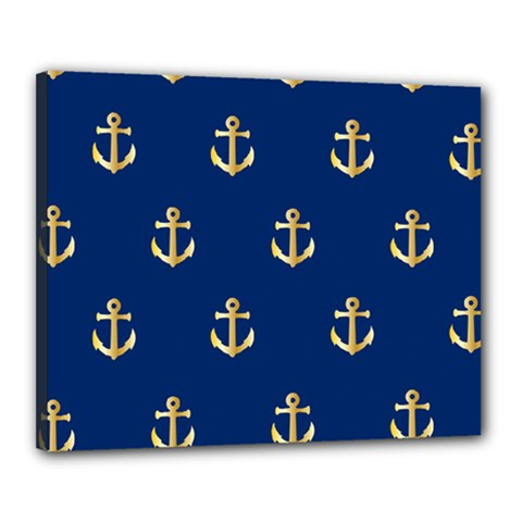 Gold Anchors Background Canvas 20  X 16