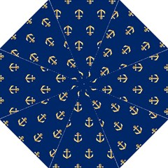 Gold Anchors Background Straight Umbrellas