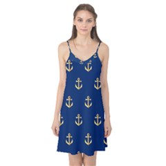 Gold Anchors Background Camis Nightgown by Nexatart