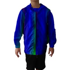 Graphics Gradient Colors Texture Hooded Wind Breaker (Kids) by Nexatart
