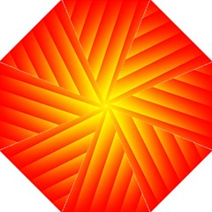 Graphics Gradient Orange Red Hook Handle Umbrellas (medium)