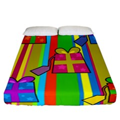 Holiday Gifts Fitted Sheet (california King Size) by Nexatart