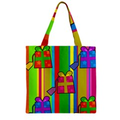 Holiday Gifts Zipper Grocery Tote Bag by Nexatart