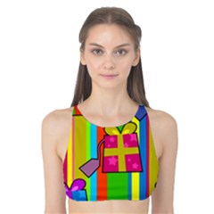 Holiday Gifts Tank Bikini Top by Nexatart