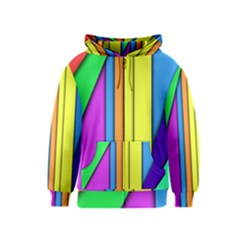 More Color Abstract Pattern Kids  Zipper Hoodie