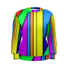 More Color Abstract Pattern Women s Sweatshirt