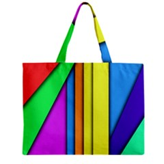 More Color Abstract Pattern Zipper Mini Tote Bag by Nexatart