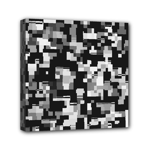 Noise Texture Graphics Generated Mini Canvas 6  X 6