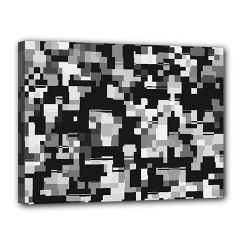 Noise Texture Graphics Generated Canvas 16  X 12