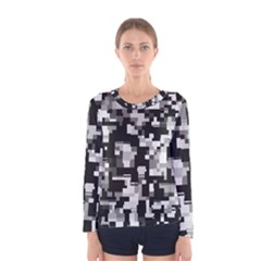 Noise Texture Graphics Generated Women s Long Sleeve Tee