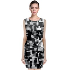 Noise Texture Graphics Generated Classic Sleeveless Midi Dress