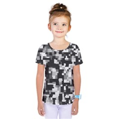 Noise Texture Graphics Generated Kids  One Piece Tee