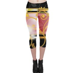Pattern Vectors Illustration Capri Leggings