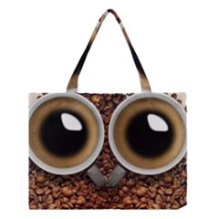 Owl Coffee Art Medium Tote Bag by Nexatart