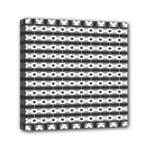 Pattern Background Texture Black Mini Canvas 6  X 6