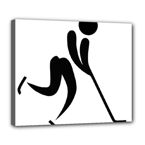 Ice Hockey Pictogram Deluxe Canvas 24  X 20   by abbeyz71