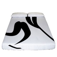 Ice Hockey Pictogram Fitted Sheet (queen Size) by abbeyz71
