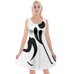 Ice Hockey Pictogram Reversible Velvet Sleeveless Dress by abbeyz71