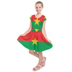 Flag of Burkina Faso Kids  Short Sleeve Dress by abbeyz71